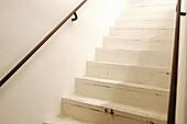 Architecture, Banister, Banisters, Color, Colour, Concept, Concepts, Detail, Details, Handrail, Handrails, Horizontal, Indoor, Indoors, Inside, Interior, Rail, Railing, Railings, Rails, Stairs, Step, Steps, White, G85-229617, agefotostock