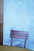 Back, Backs, Chair, Chairs, Color, Colour, Concept, Concepts, Detail, Details, Indoor, Indoors, Inside, Interior, Nobody, One, Vertical, Wall, Walls, Wood, Wooden, G85-229622, agefotostock