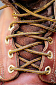 Worn bootlaces