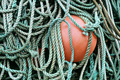 Rope and gear for fishing with net. Sweden.