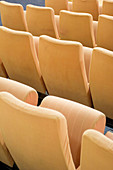 Auditorium, Auditoriums, Chair, Chairs, Color, Colour, Comfort, Comfortable, Concept, Concepts, Detail, Details, Folding, Indoor, Indoors, Interior, Lecture hall, Lecture halls, Line, Lines, Nobody, Row, Rows, Seat, Seats, G96-462712, agefotostock