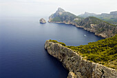 Balearic Islands, Calm, Calmness, Cap de Formentor, Cape, Capes, Coast, Coastal, Coastline, Color, Colour, Daytime, Europe, Exterior, Island, Islands, Landscape, Landscapes, Majorca, Mallorca, Mediterranean Sea, Nature, Outdoor, Outdoors, Outside, Quiet,