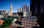 Quincy Market and Faneuil Hall. Boston. Massachusetts. USA