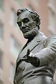 Abraham Lincoln statue, Park Square, Boston, Massachusetts. USA.