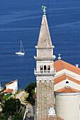 Church. Piran. Adriatic coast. Slovenia