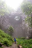 Mali Naravni Most natural bridge. Rakov Skocjan Nature Reserve. Slovenia