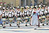 The grand procession of regional costumes. October festival. Munich. Bavaria. Germany