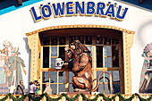 Munich October Festival. Löwenbräu beer tent