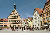 Traditional dance in Rothenburg ob der Tauber. Mittelfranken, Bavaria. Germany