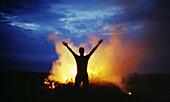 Midsummer night bonfire, Estonia