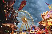 Fun fair in Ratisbone. Bavaria. Germany