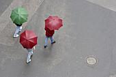 Walking in the rain. Salzburg. Austria