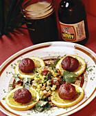 Cuban food: fried dish with malt drink