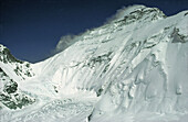 North face of mount Everest from the Rongbuk Glacier, Himalayas. Tibet