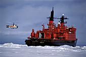 Sovetskiy Soyuz nuclear powered icebreaker. North Pole