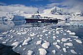 Motor yacht Itasca . Antarctica