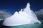 Castle-shaped iceberg. Pleneau Island. Antartica