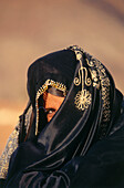 Close up of a Bedouin woman, Sinai, Egypt, Africa