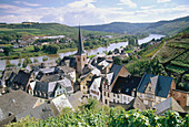 Wine village Urzig, Mosel-Saar-Ruwer, Rhineland-Palatinate, Germany