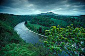 Scott's View, a viewpoint in the Scottish Borders, Scotland, Great Britain