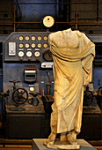 Antique sculpture in the former power station, Centrale Montemartini, Capitoline Museums, Rome, Italy