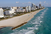 Aerial view of Miami Beach, Boardwalk district, Florida, United States of America,USA
