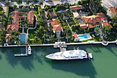 luxurious homes on Hibiscus Island with yacht, Real Estate, Miami, Florida, United States of America, USA