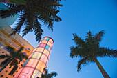 Art deco building on Washington Avenue, Miami Beach, Florida, USA