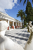 Corfu, statue at the atrium of Achilleion palace, Patio, Ionian Islands, Greece