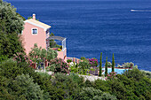 Corfu, house with ocean view in Pyrgi, Ionian Islands, Greece