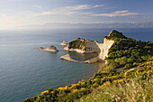 View at headland Cape Drastis, Corfu, Ionian Islands, Greece