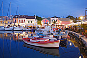Fiskardo harbour in the evening, Cephalonia Island, Ionian Islands, Greece