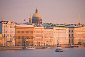 Neva river and Saint Isaac's cathedral, Saint Petersburg, Russia