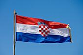 National Flag of Croatia, Dubrovnik, Dubrovnik-Neretva, Croatia