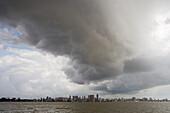 Storm cloud over Belem, Belem, Para, Brazil, South America