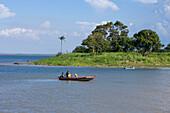 Fishing Boat on the Amazon River, Near Santarem, Para, Brazil, South America
