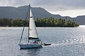 Moorings Charter Yacht Sailboat in Bora Bora Lagoon, Bora Bora, Society Islands, French Polynesia