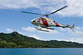 Polynesia Helicopters Sightseeing Helicopter, Bora Bora, Society Islands, French Polynesia