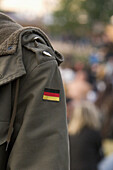 German army jacket with spikes, rock concert, Geiselwind, Bavaria, Germany