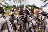 Men with body painting at Singsing Dance, Lae, Papue New Guinea, Oceania
