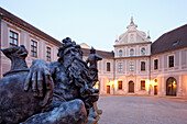 Courtyard of the Residenz in the evening, Munich, Bavaria, Germany
