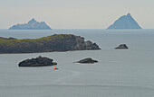 outdoor photo, Skellig Islands seen from Valentia Island, Ring of Kerry,  County Kerry, Ireland, Europe