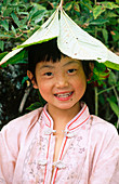 l, Girls, Grin, Grinning, Hat, Hats, Headgear, Human, Infantile, Innocence, Innocent, Kid, Kids, Leaf
