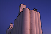 Grain storage silos. Nebraska. USA.
