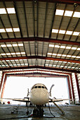 Aeroplane, Aeroplanes, Aircraft, Aircraft industry, Aircrafts, Airliner, Airliners, Airplane, Airplanes, Airport, Airports, Ceiling, Ceilings, Color, Colour, Daytime, Hangar, Hangars, Indoor, Indoors, Industrial, Industry, Inside, Interior, Maintenance,