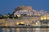 Papa Luna Castle and city walls. Peñiscola. Castellon province. Comunidad Valenciana, Spain