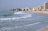 View of Oropesa del mar beach. Castellon province. Comunidad Valenciana. Spain