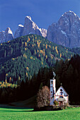 Church. Villnösstal. South Tyrol. Italy