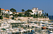 Touristic harbour and Villa Kerylos. Beaulieu Sur Mer. Cote D Azur. France