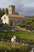 Romanesque church of Santa Cecilia. Molló. Ripollès Region. Girona Province. Catalonia. Spain.